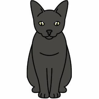 Dibujo animado del gato de Sam Sawet Fotoescultura Vertical