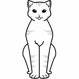 Dibujo animado del gato de Shorthair del americano Esculturas Fotográficas