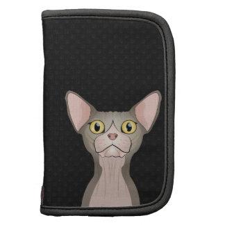 Dibujo animado del gato de Sphynx (bicolor) Organizadores