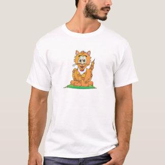 Dibujo animado del gato de tigre playera