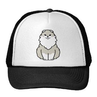 Dibujo animado del gato del doblez de la montaña gorros bordados