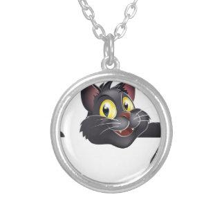 Dibujo animado del gato negro de Halloween Joyerías