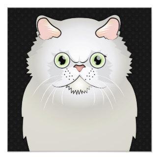 Dibujo animado del gato persa (blanco, Plano-Cara) Arte Fotográfico