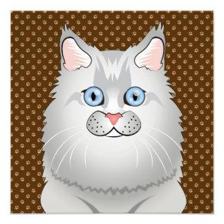 Dibujo animado del gato persa (Muñeca-Cara) Arte Con Fotos
