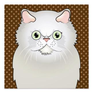 Dibujo animado del gato persa (Plano-Cara, blancas Cojinete