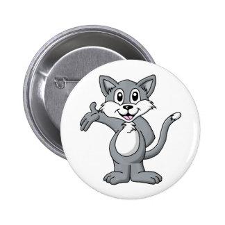 Dibujo animado del gato pin