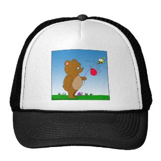 dibujo animado del globo de 643 de la abeja osos gorras
