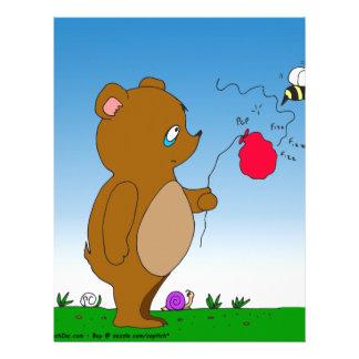 dibujo animado del globo de 643 de la abeja osos membrete personalizado