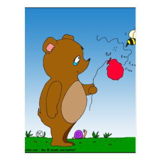 dibujo animado del globo de 643 de la abeja osos postales