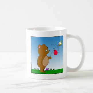 dibujo animado del globo de 643 de la abeja osos taza de café