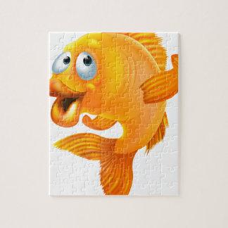 Dibujo animado del Goldfish Puzzle Con Fotos