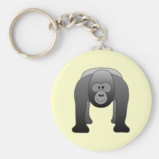 Dibujo animado del gorila del Silverback Llaveros Personalizados