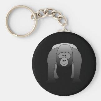 Dibujo animado del gorila del Silverback Llavero