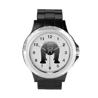 Dibujo animado del gorila del Silverback Reloj De Mano