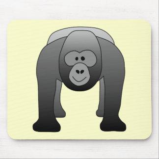 Dibujo animado del gorila del Silverback Alfombrillas De Raton