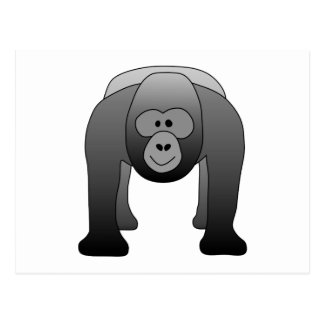 Dibujo animado del gorila del Silverback Postales