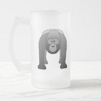 Dibujo animado del gorila del Silverback Taza De Cristal
