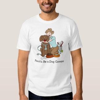 Dibujo animado del Groomer del perro Playera