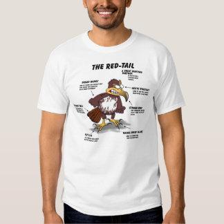 dibujo animado del halcón de la Rojo-cola Camisas