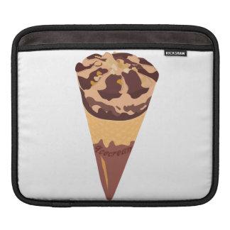 Dibujo animado del helado de chocolate manga de iPad