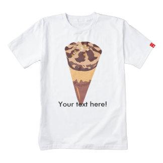 Dibujo animado del helado de chocolate playera zazzle HEART