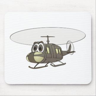 Dibujo animado del helicóptero de Huey Alfombrillas De Raton