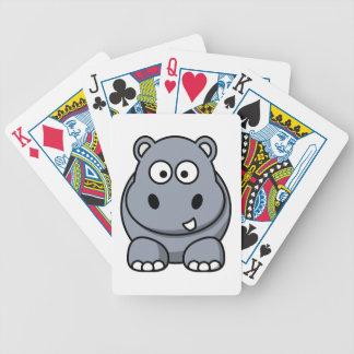 Dibujo animado del hipopótamo barajas
