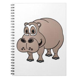 Dibujo animado del hipopótamo cuadernos