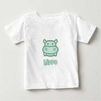 Dibujo animado del hipopótamo del bebé camisas