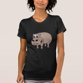 Dibujo animado del hipopótamo playera