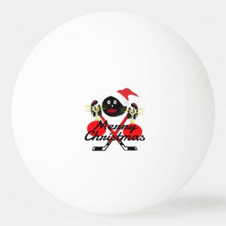 Dibujo animado del hockey de las Felices Navidad Pelota De Ping Pong