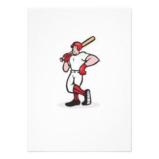Dibujo animado del hombro del palo del bateador de comunicados personalizados