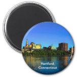 Dibujo animado del horizonte de Hartford Connectic Imán Para Frigorífico
