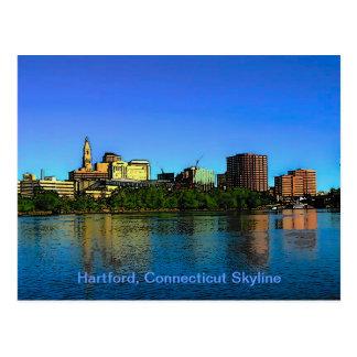 Dibujo animado del horizonte de Hartford Connectic Postal