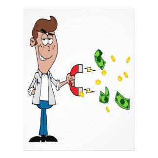 """dibujo animado del imán del dinero divertido folleto 8.5"""" x 11"""""""