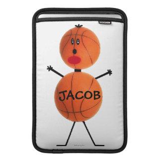 Dibujo animado del jugador de básquet funda  MacBook