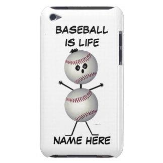 Dibujo animado del jugador de béisbol cubierta para iPod de barely there