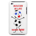 Dibujo animado del jugador de fútbol Case-Mate iPod touch cárcasa