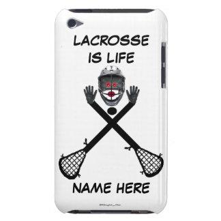 Dibujo animado del jugador de LaCrosse iPod Touch Case-Mate Carcasa