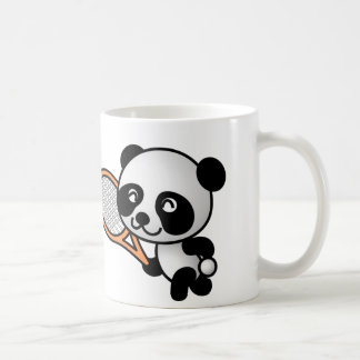 Dibujo animado del jugador de tenis del oso de taza