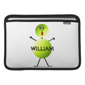 Dibujo animado del jugador de tenis funda  MacBook