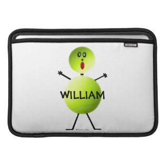 Dibujo animado del jugador de tenis funda macbook air
