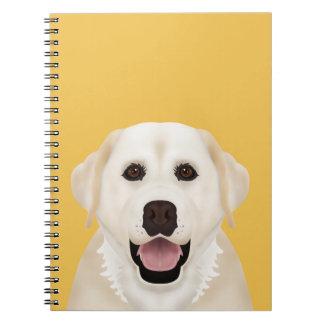 dibujo animado del labrador retriever spiral notebook