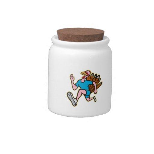 Dibujo animado del lado del corredor del funcionam jarras para caramelos