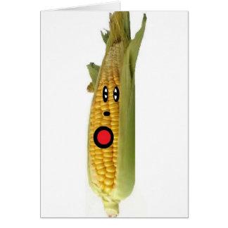 Dibujo animado del maíz felicitación