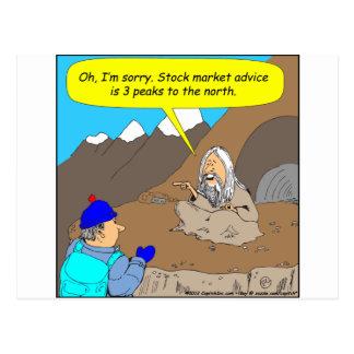 Dibujo animado del mercado de acción de A004 Guru Tarjetas Postales