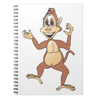 Dibujo animado del mono cuadernos