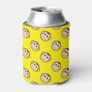 Dibujo animado del mono enfriador de latas