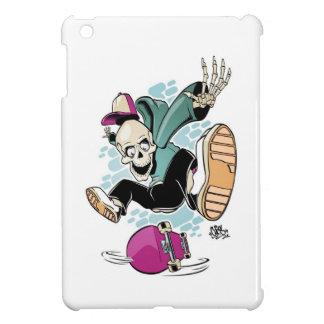 dibujo animado del monopatín del cráneo iPad mini coberturas