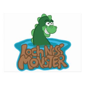 Dibujo animado del monstruo de Loch Ness Postales